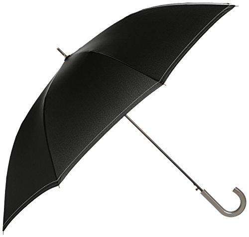 [ムーンバット] 長傘 紳士 ジャンプ傘 耐風 ステッチ メンズ ブラック 日本 親骨70cm (FREE サイズ)