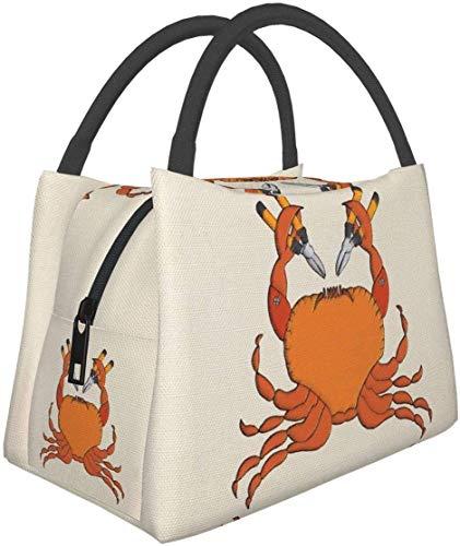 Bolsa de almuerzo aislada, lonchera para adultos, bolsa de almuerzo portátil de cangrejo para mujeres, hombres, niños, oficina, trabajo, escuela, picnic, senderismo, viajes-8