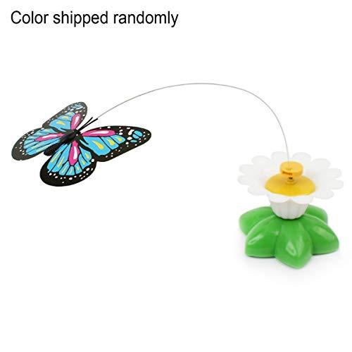 Cosye Elektrische 360 rotierende Bunte Schmetterling lustige Katzenspielzeug Kolibri lustige Katzenspielzeug Haustier Spielzeug