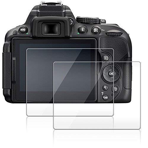 Pellicola Protettiva per Nikon D5300 D5500 D5600, AFUNTA 2-Pack Anti-graffio Vetro Temperato Screen Protector Film (HD Alta Trasparente)