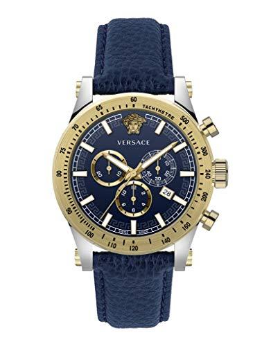 Versace Herrenuhr Sporty Quarz blau | Herrenuhr | Quarz | goldfarben