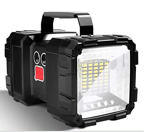 LETOUR Linterna recargable LED, 10000 mAh 1200 lúmenes ultralarga, de alta potencia impermeable para camping 7 modos, luz de búsqueda LED superbrillante con salida USB