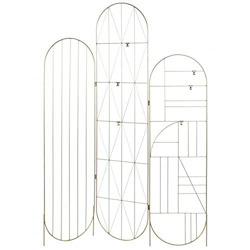 Biombo Metal Portafotos, Biombos Originales para Decoración del Hogar. Biombo Metálico Decorativo para Colgar Fotos 121x1x170 cm