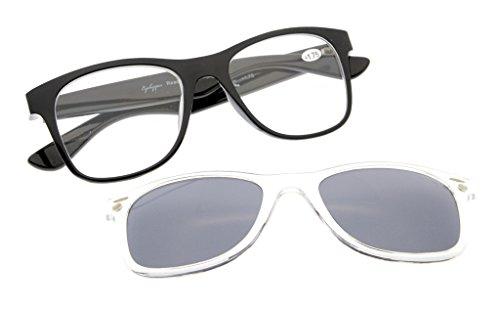 Eyekepper Occhiali da lettura con sole polarizzati Clip grandi e pesanti Nero +1.75