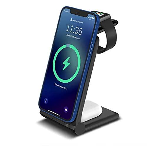 Auriculares Bluetooth y auriculares sin hilos del cargador 3 en 1 soporte de carga rápida de la estación del muelle para el teléfono inteligente del reloj Auriculares