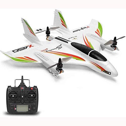 Mopoq RC Avión de acrobacias 2.4G 6CH 3D / 6G Avión RC sin