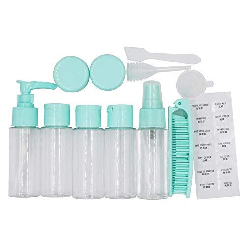 EONPOW Reise Flaschen und Behälter Set für Handgepäck Flüssigkeiten Kosmetik Reiseflaschen Zubehör 12 Stück