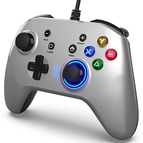 Controller di Gioco Cablato per PC, Joystick Gamepad con Controllore di Gioco per PC Doppia...