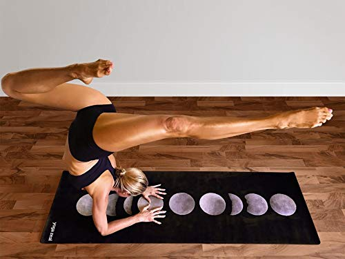 Moon Phases Yoga Mat - Luxuriously Soft, Non-Slip, Hot Yoga Mat Forms of Yoga/Pilates/at Home Workouts