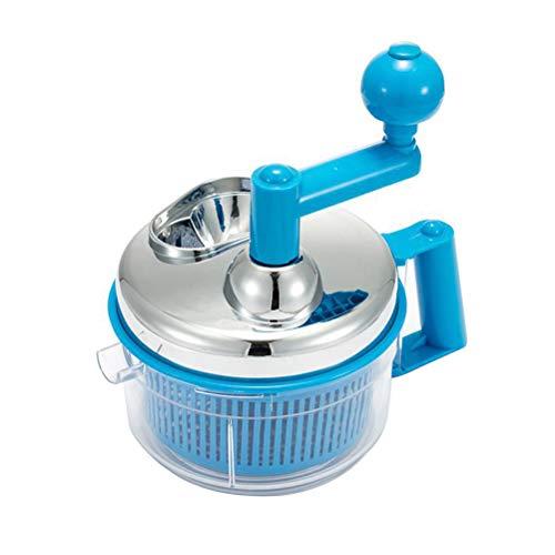 BESTONZON Robot culinaire manuel hachoir à légumes hachoir à viande mélangeur à viande mélangeur à manivelle (couleur aléatoire)