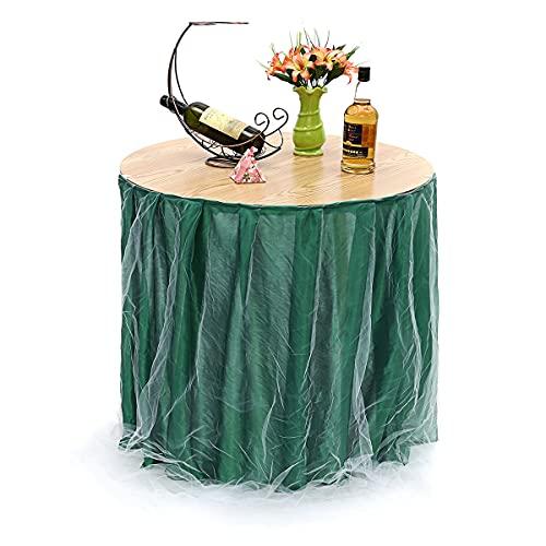 QIEP 75 x 100 cm falda de mesa vajilla boda fiesta Navidad fiesta cumpleaños decoración suministros (verde)