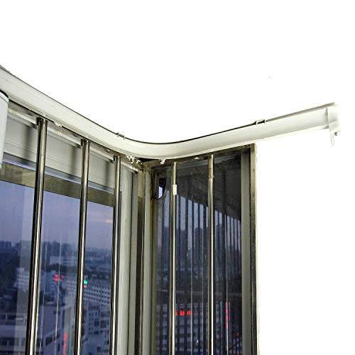Super More 5 Meter biegbare Vorhangschiene zur Deckenmontage, gerade gebogene Deckenschiene, Deckenmontage, Deckenmontage für Witwen, Vorhang Raumteiler, Vorhang – 5 m