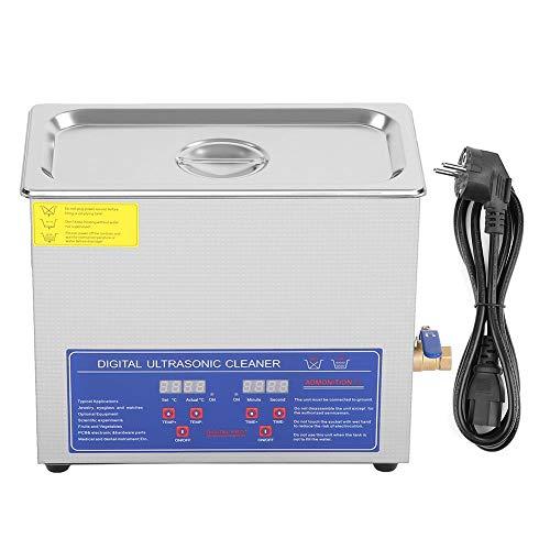 AYNEFY Pulitore Digitale da 6 Litri, Vasca di Pulizia ad ultrasuoni, pulisci Gioielli ad ultrasuoni con Timer, Lavatrice ad ultrasuoni Digitale per Gioielli
