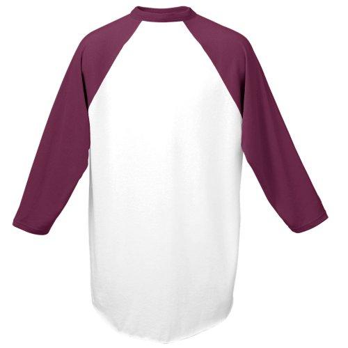 Augusta Herren Sportswear Baseball Jersey, Herren, Weiß/Kastanienbraun, Small