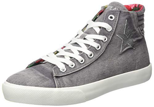 Replay Damen Ever W - LAWNE Hohe Sneaker, Grau (Grey 28), 38 EU