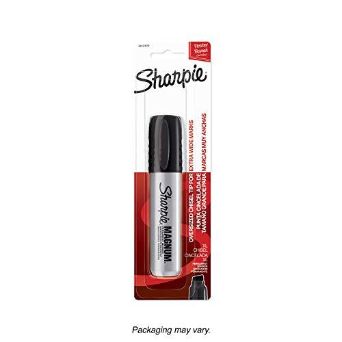 Sharpie 44101PP Magnum Permanent Marker, Chisel Tip, Black, 1-Count