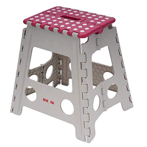 KAIDA 踏み台 折りたたみ コンパクト ステップ台 脚立 折り畳み椅子 子供 大人兼用 腰掛け 折り畳むスツール 高さ39cm 軽量 収納便利 (レッド高さ39cm)