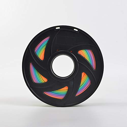 ZHANGDONG Excellent quality 1kg 3D Printer Filament PLA Random Send Rainbow Color 3d Printing Material pla filament 1.75mm 1kg Multicolor Filament Reasonable price (Color : Rainbow)