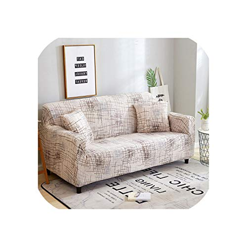 S-paw Stripe Printing Sofa Cover Stretch Furniture Covers Elastic Sofa Covers for Living Room Slipcovers for Armchairs Couch Covers,Ymsg Slipcover,Two Seat 145-185Cm
