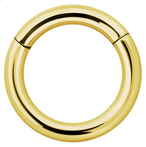 Piercing Joya Segmento Suave Anillo Clicker Oro En 3,0 MM - Oro