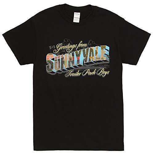 Kings Road Merch Trailer Park Boys Welcome to Sunnyvale Adult T-Shirt - Black (XX-Large)