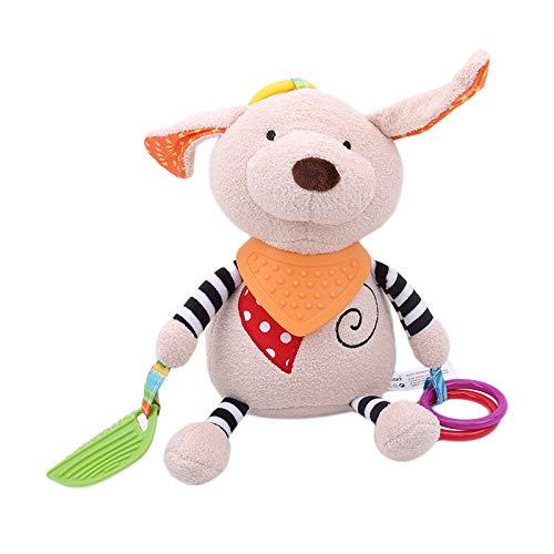Aymsm Oso de Peluche, muñecas de Peluche de bebé, Cochecito para Colgar sonajero Educativo, muñeca de Calma de 0-12 Meses 30 * 12 cm