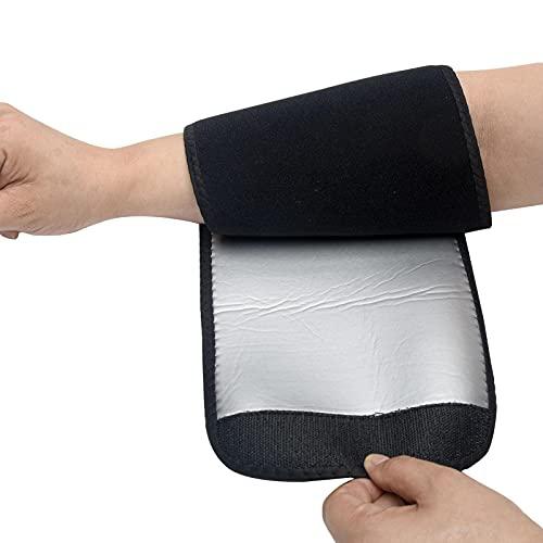 2 piezas de cortadoras de brazo para mujer, sauna, brazo, adelgazante, manga de compresión, quemador de grasa, bandas moldeadoras de sudor para entrenamiento deportivo