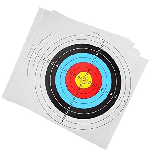 TIRERO TARGER Papel Flecha PRÁCTICA PRÁCTICA Airsoft Airsoft Papel Papel Papel para RECURVE Bow Longbow TIRERO Accesorios REEMPLAZO 30PCS