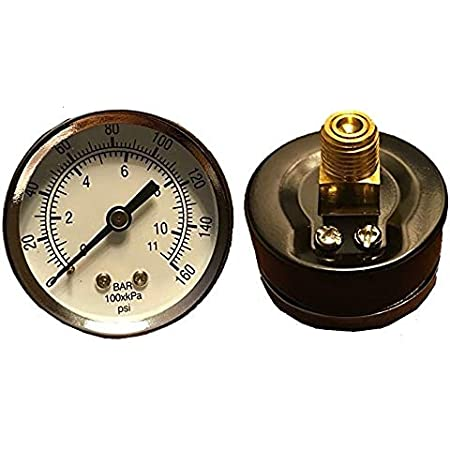 Compressor Gauge Air Compressor Gauges Professional for Compressor Pressure Gauge Air Compressor Parts Gauge Air Pressure Gauge Compressor 2 Airbrush Pressure Gauge Pressure Gauges