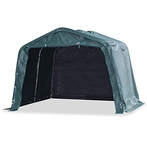 pedkit Carpa para Ganado Desmontable PVC Verde Oscuro 550g/m² 3,3x3,2m Carpas y cenadores para Patio Jardinería