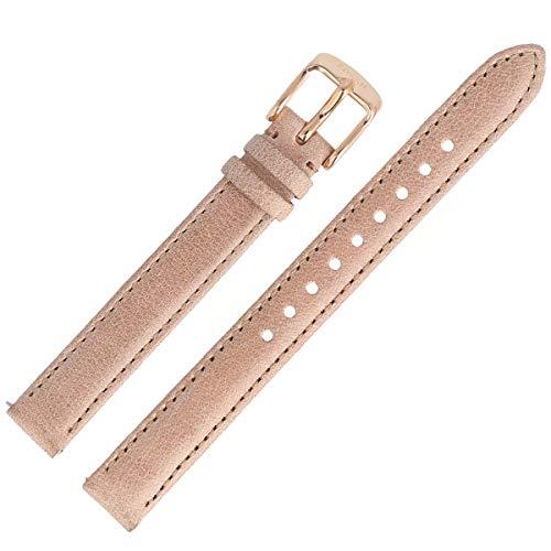 Fossil Uhrenarmband 12mm Leder Beige - ES-3133 | LB-ES3133
