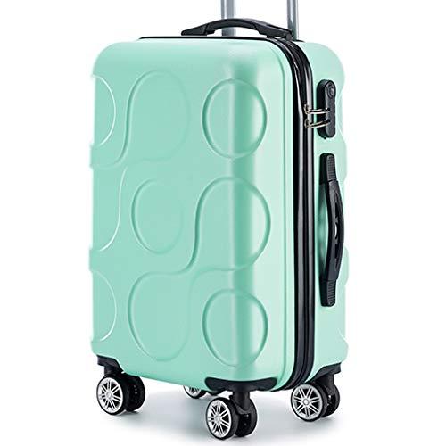 Reiskoffer met trolley van ABS-kunststof, licht, robuust, wachtwoord, reiskoffer, spinner, 20 inch