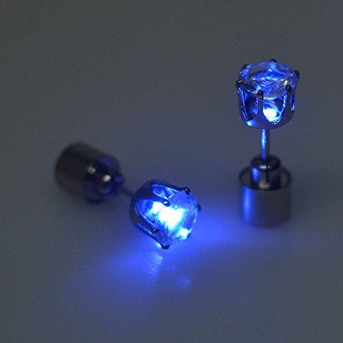 Pendientes con luz LED, pendientes con luz azul