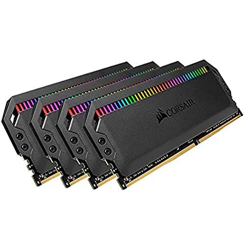 Kit di memoria desktop CORSAIR DOMINATOR PLATINUM RGB 64GB (4x16GB) DDR4 3200 (PC4-28800) C16 1.35V, Nero