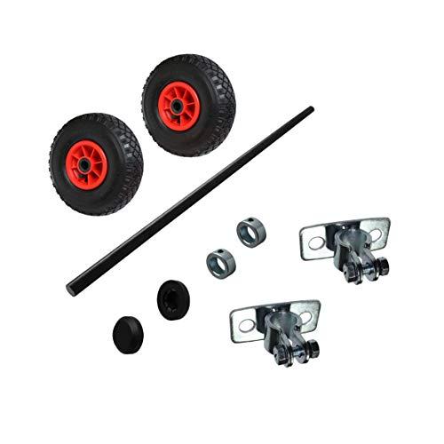 Wagenbau Satz Achse Volleisen/Radsatz mit Luftrad 260mm WB260S1