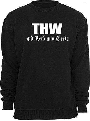 THW Mit Leib und Seele; Sweatshirt; schwarz; Unisex; 48/50; Gr. M