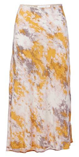 ASTR the label Women's Embroidered NAVA MIDI Slip Skirt, Lemon-Pink TIE DYE, L