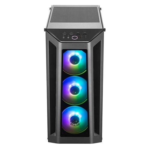 Cooler Master MasterBox MCB-B530P-KHNN-S01 Computer Case - Mid-Tower - Black - Steel, Plastic, Tempered Glass - 6 x Bay - 4 x 4.72 x Fan(s) Installed - ATX, Micro ATX, Mini ITX Motherboard Suppo