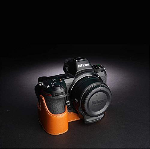 STTY Funda de Cuero Genuino para cámara Funda de Piel de Vacuno Original para Nikon Z7, Nikon Z6,F,Z7