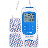 TensCare Perfect Tens – Electroestimulador para Alivio del dolor. 2 Canales con 4 electrodos, con programas Clínicamente Comprobados para aliviar el dolor de espalda, Artritis y Lumbalgia
