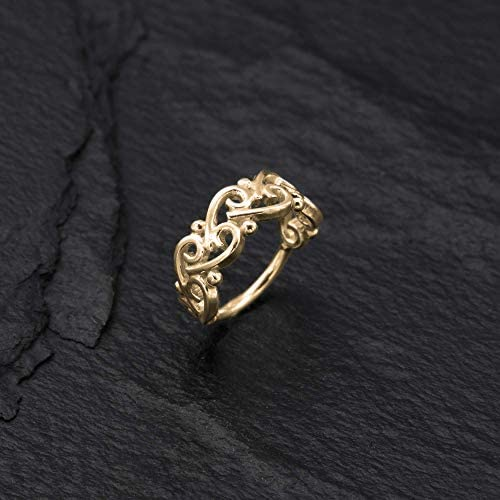 Gold Nose Ring 14K Gold Plated Silver Unique Indian Boho Tribal Nose Hoop Piercing Earring Small product image