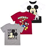 Mickey Mouse Friends Boys' T-Shirt (Pack of 3) 12M White