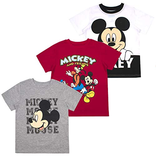 Mickey Mouse Friends Boys' T-Shirt (Pack of 3) 3T White