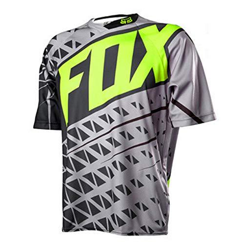 QINYA Radfahren Jersey,MTB-Trikot Outdoor-Radsport Fahrrad Reitanzug Langarm-Shirt,Unisex Downhill-Anzug Herren Mountainbike Motocross Trikot (Color 09,2XL)
