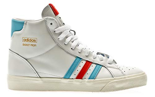 adidas Originals Basket Profi, Footwear White-red-Gold metallic, 8,5