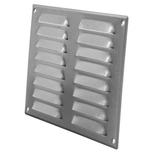 Rejilla de ventilación de acero para techo y pared lateral – HVAC – con pantalla de protección contra insectos (10.23 x 7.48 pulgadas, galvanizada)
