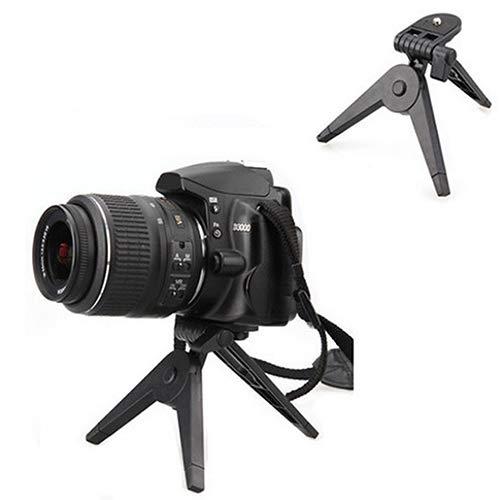 XQxiqi689sy Trípode portátil plegable para cámara Canon Nikon DV videocámaras DSLR SLR