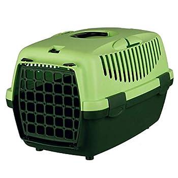 Trixie Boîte de Transport Capri 1 Gris/Vert Pomme 32 × 31 × 48 cm pour Chat