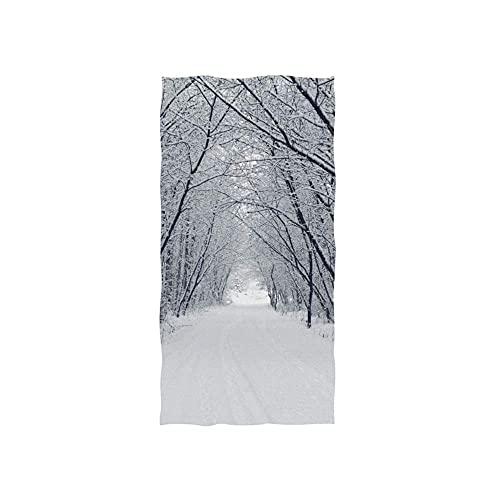 Winter Snow Road Toallas Baño Elegante Toalla De Playa Customed Toallas De Baño Microfibra Toalla De Piscina