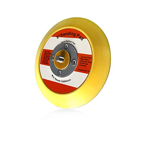 Maxshine Professional Yellow DA/Dual Action Dia: 5 inches/125mm Backing Pad-Ideal for All Brands of Dual Action Polisher